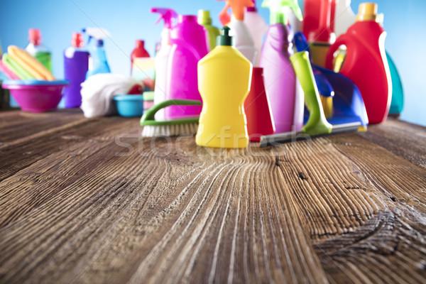 大掃除 春 カラフル 家 クリーニング製品 ストックフォト © zolnierek