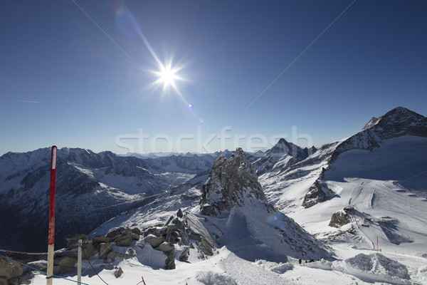 Winter theme - skiing Stock photo © zolnierek