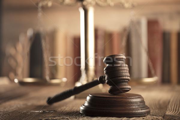 прав правосудия Адвокаты служба масштаба бумаги Сток-фото © zolnierek