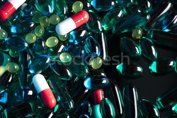 Pharmacy theme – pills. Stock photo © zolnierek