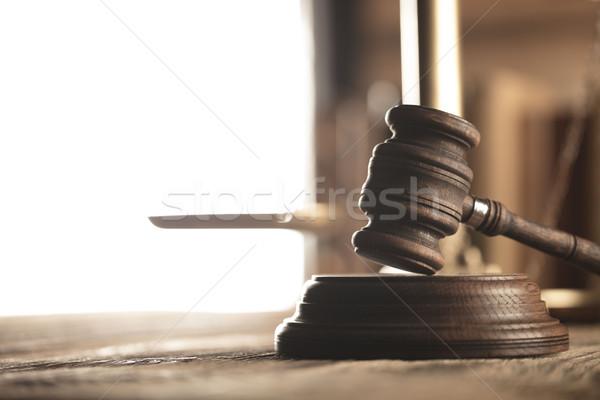 прав правосудия Адвокаты служба масштаба стороны Сток-фото © zolnierek