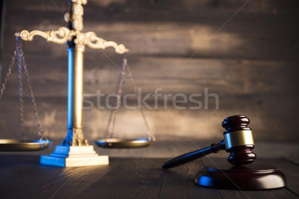 Juridiques droit avocats bureau échelle justice Photo stock © zolnierek