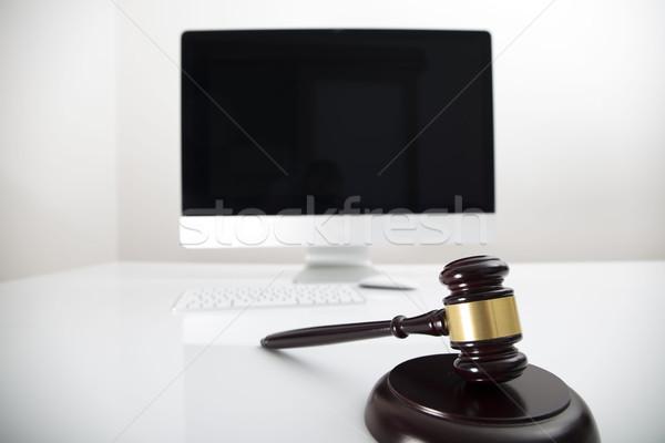 Adó törvény modern üzlet pénzügy számítógép Stock fotó © zolnierek
