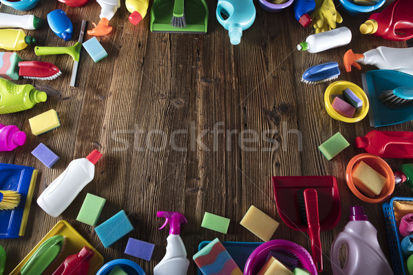 Stock photo: Spring cleanup theme.