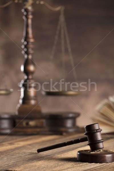 Prawnych adwokat doradca biuro konsultacja książki Zdjęcia stock © zolnierek