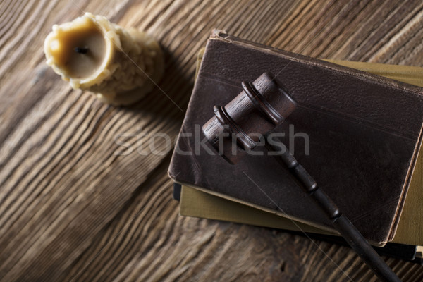 法的 裁判官 コード シンボル 背景 白 ストックフォト © zolnierek