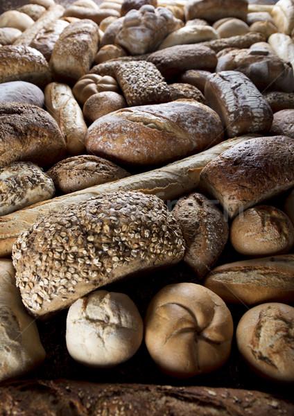 Towary mieszany chleba górę widoku Zdjęcia stock © zolnierek