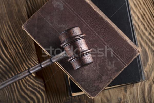 Giuridica giudice codice simboli sfondo bianco Foto d'archivio © zolnierek