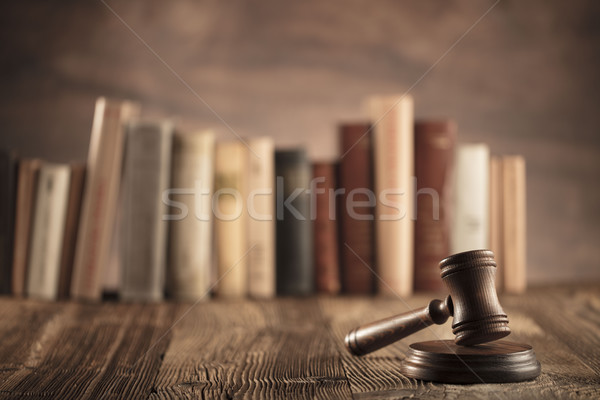 Law and justice theme Stock photo © zolnierek