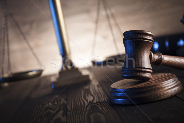 правовой прав Адвокаты служба масштаба правосудия Сток-фото © zolnierek