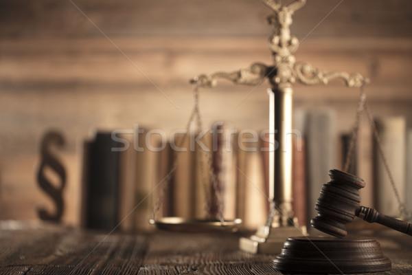 Recht Gerechtigkeit Rechtsanwälte Büro Maßstab Hand Stock foto © zolnierek