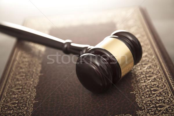 Photo stock: Juridiques · juge · code · symboles · fond · blanche