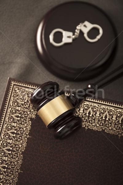 Giuridica giudice codice simboli libro bianco Foto d'archivio © zolnierek