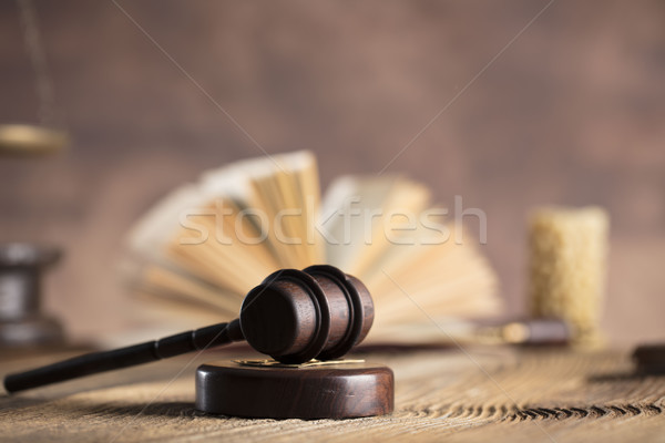 Legal system concept. Stock photo © zolnierek
