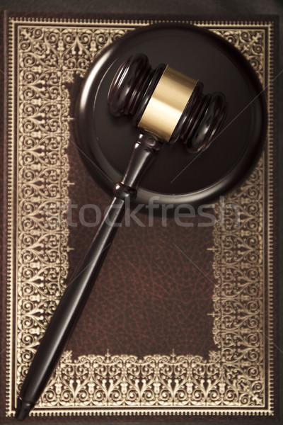 Photo stock: Juridiques · juge · code · symboles · livre · blanche
