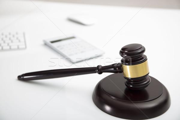 Podatku prawa nowoczesne działalności finansów komputera Zdjęcia stock © zolnierek