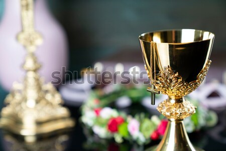 Católico religión primero comunión crucifijo Foto stock © zolnierek