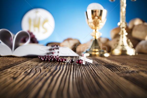 Catholique religion première communion crucifix Photo stock © zolnierek