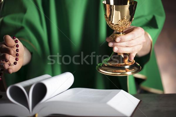 カトリック教徒 宗教 司祭 聖なる 質量 クロス ストックフォト © zolnierek