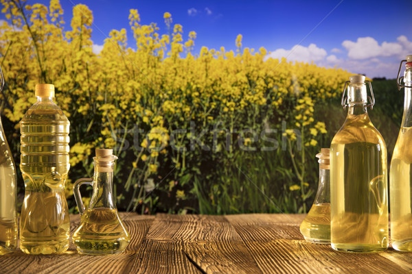 Rapeseed oil concept. Stock photo © zolnierek