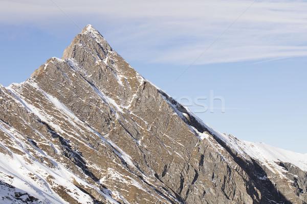 Tél síel Alpok gyönyörű kilátás nap Stock fotó © zolnierek