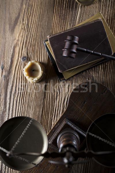Yasal yargıç kod semboller arka plan beyaz Stok fotoğraf © zolnierek