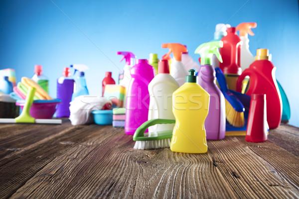 Primavera variedade colorido casa produtos de limpeza Foto stock © zolnierek