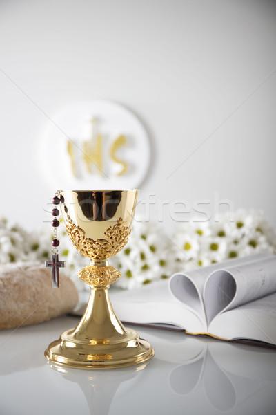 最初 聖なる 聖餐 カトリック教徒 宗教 十字架 ストックフォト © zolnierek