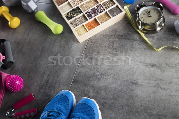 Fitness theme. Stock photo © zolnierek
