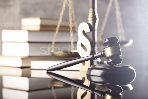 Droit justice juge échelle juridiques code Photo stock © zolnierek