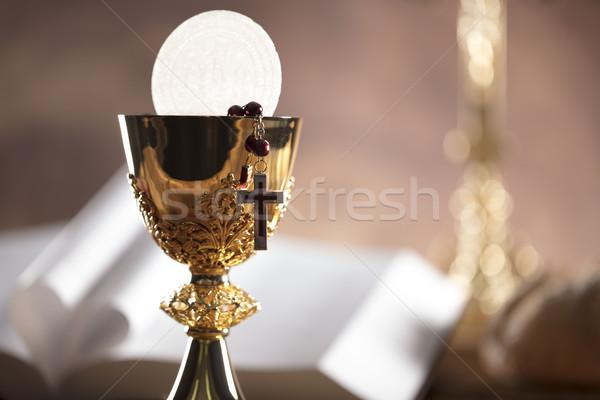 カトリック教徒 宗教 聖なる 聖書 クロス 金 ストックフォト © zolnierek