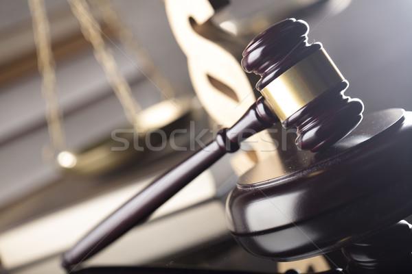 Prawa sprawiedliwości sędzia skali prawnych kodu Zdjęcia stock © zolnierek