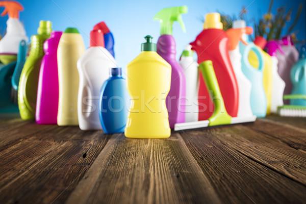 Tavasz választék színes ház takarítószerek rusztikus Stock fotó © zolnierek