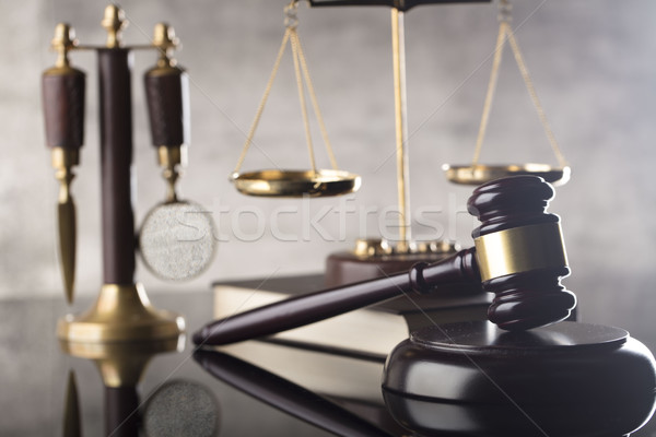 Ley justicia juez escala jurídica código Foto stock © zolnierek