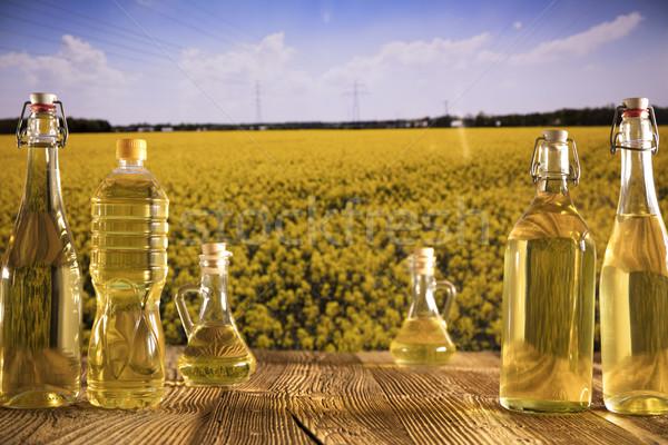 Rapeseed oil concept. Stock photo © zolnierek