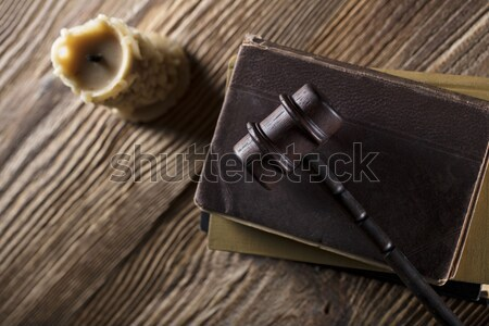 Juridiques juge code symboles fond blanche Photo stock © zolnierek