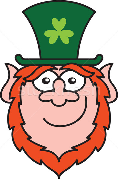Stock photo: Shy St Paddy's Day Leprechaun