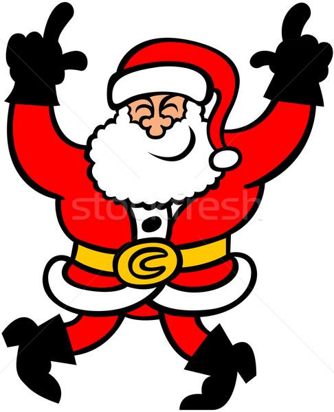 Dancing Santa Claus Stock photo © zooco