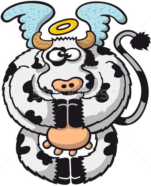聖なる 牛 ぽってり ハロー ストックフォト © zooco