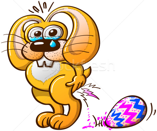 Painful Easter Bunny Job Stock photo © zooco