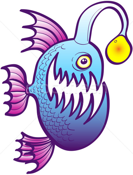 Angler fish smiling mischievously Stock photo © zooco