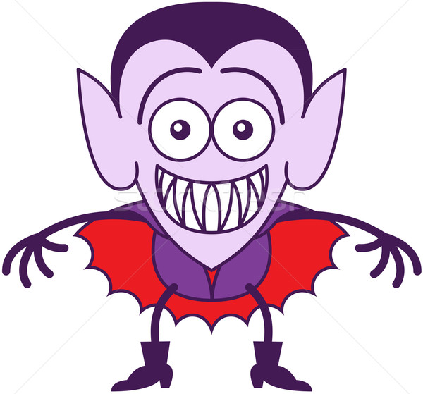 Halloween Dracula grinning while feeling embarrassed Stock photo © zooco