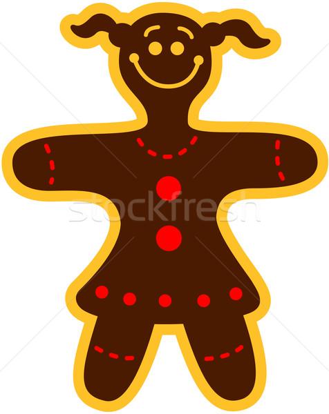 Christmas cookie woman Stock photo © zooco