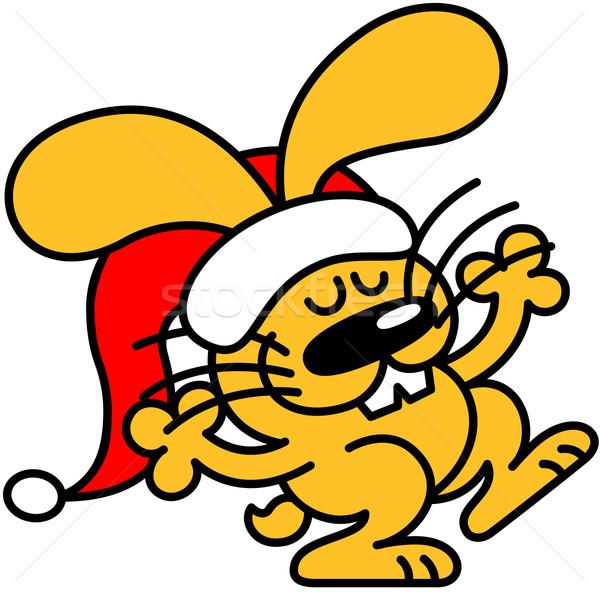 Geel bunny vieren christmas mooie glimlachend Stockfoto © zooco