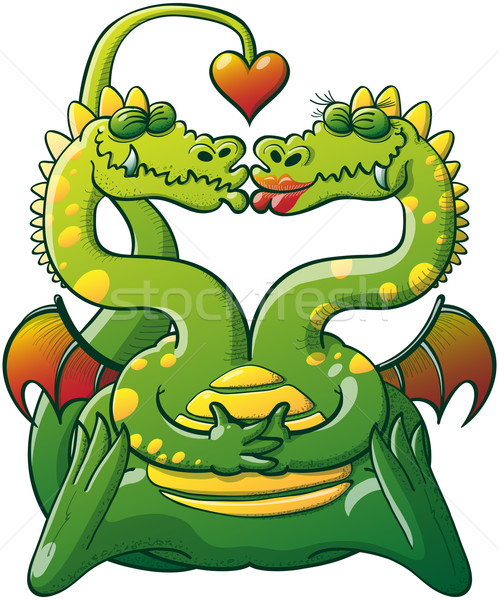 Dragons madly in love Stock photo © zooco