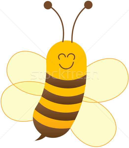 Nice friendly bee posing and smiling Stock photo © zooco