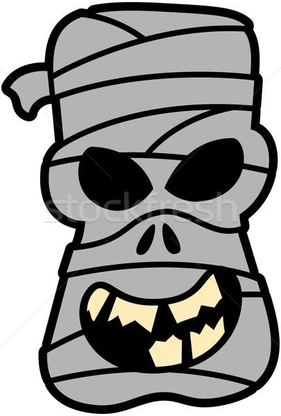 ハロウィン 恐ろしい 着用 グレー 笑みを浮かべて ストックフォト © zooco