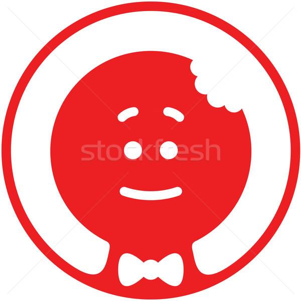 Noel kurabiye adam avatar kırmızı ısırmak Stok fotoğraf © zooco