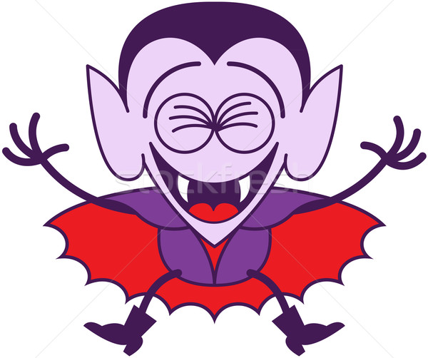 Halloween Dracula jumping out of joy Stock photo © zooco