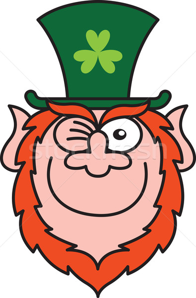 St Paddy's Day Leprechaun Winking and Smiling Stock photo © zooco